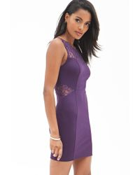 Forever 21 - Purple Dynamite Lace Bodycon Dress - Lyst