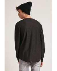 Forever 21 Multicolor 's Marled Knit Dolphin-hem Top for men