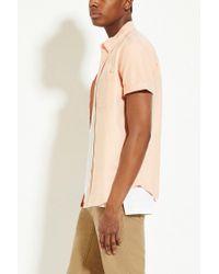 Forever 21 - Orange 's Cotton Oxford Shirt for Men - Lyst