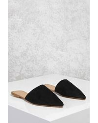 Forever 21 - Black Faux Suede Pointed Flats - Lyst