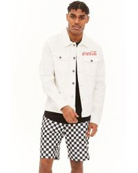 Forever 21 - White Coca-cola Graphic Denim Jacket for Men - Lyst