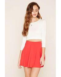 Forever 21 - Red Mini Skater Skirt - Lyst