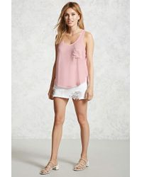 Forever 21 - Pink Mineral Wash Tank Top - Lyst