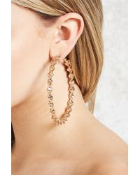 Forever 21 - Metallic Snake-chain Hoop Earrings - Lyst