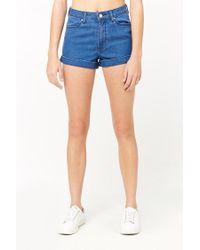 Forever 21 - Blue Women's High-waisted Denim Shorts - Lyst