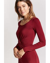 Forever 21   Red Twist-front Bodycon Dress   Lyst