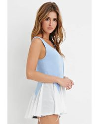 Forever 21 - Blue Heathered Combo Tunic You've Been Added To The Waitlist - Lyst