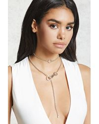 Forever 21 - Metallic O-ring Drop Chain Choker - Lyst