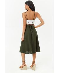 Forever 21 - Green Pinafore Midi Dress - Lyst