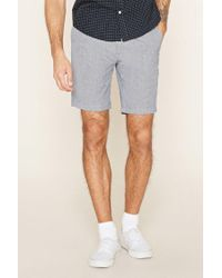 Forever 21 - Blue Twill Woven Shorts for Men - Lyst