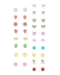 Forever 21   Multicolor Floral And Fruit Earring Set   Lyst