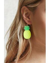 Forever 21 | Green Pineapple Drop Earrings | Lyst