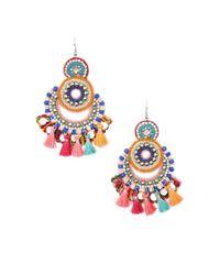 Forever 21 - Multicolor Beaded Chandelier Earrings - Lyst