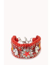 Forever 21 | Pink Kitschy-chic Woven Bracelet | Lyst