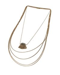 Forever 21 | Metallic Triangle Pendant Layered Necklace | Lyst