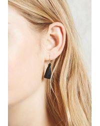 Forever 21 | Black Tassel Drop Earrings | Lyst