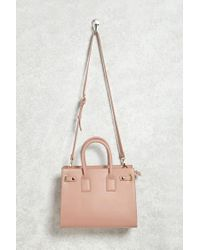 Forever 21 | Pink Structured Faux Leather Satchel | Lyst
