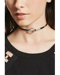 Forever 21 | Metallic O-ring Collar Choker | Lyst