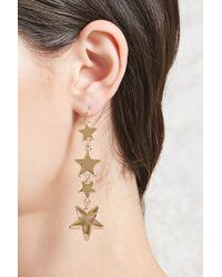 Forever 21 - Metallic Star Drop Earrings - Lyst