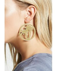 Forever 21 - Metallic Palm Tree Drop Earrings - Lyst