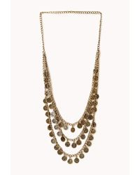 Forever 21 | Metallic Traveler Layered Coin Necklace | Lyst