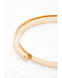 Forever 21 | Metallic Crescent Layer Bangle | Lyst