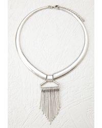Forever 21 - Metallic Matchstick Fringe Collar Necklace - Lyst