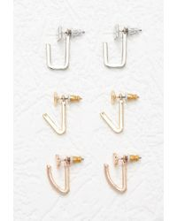 Forever 21 - Metallic Mixed Geo Ear Jacket Set - Lyst