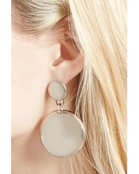 FOREVER21 - Metallic Disk Drop Earrings - Lyst