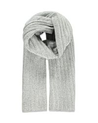 Forever 21 - Gray Chunky Ribbed Knit Scarf - Lyst