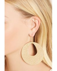 Forever 21 - Metallic Cutout-disc Drop Earrings - Lyst
