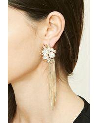 Forever 21 | Metallic Faux Pearl Drop Earrings | Lyst