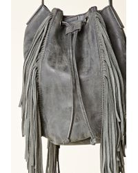 Forever 21 - Gray Izzy & Ali Fringed Bucket Bag - Lyst