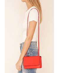 Forever 21 | Red Faux Leather Crossbody | Lyst