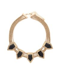 Forever 21 | Metallic Geo Faux Stone Necklace | Lyst