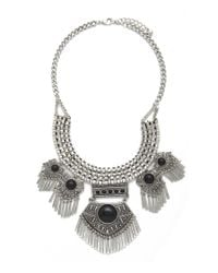 Forever 21 | Multicolor Faux Stone Statement Necklace | Lyst