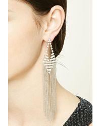 Forever 21 | Metallic Beaded Duster Earrings | Lyst