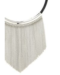 Forever 21 | Metallic Fringe Statement Necklace | Lyst