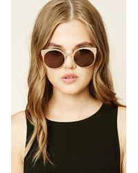 Forever 21 | Brown Metallic Cat Eye Sunglasses | Lyst