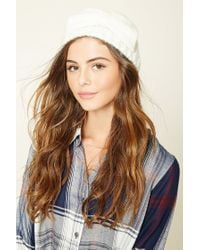 Forever 21 | Natural Bow Front Knit Headwrap | Lyst