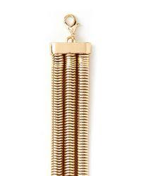 Forever 21 - Metallic Snake Chain Layered Bracelet - Lyst