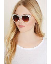 Forever 21 - White Angular Cat Eye Sunglasses - Lyst