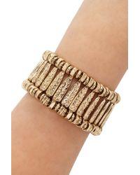 Forever 21   Metallic Etched Floral Bracelet   Lyst