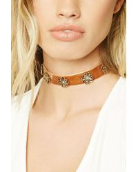 Forever 21 - Brown Floral Ornate Choker - Lyst