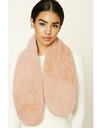 Forever 21 | Pink Faux Fur Wrap Scarf | Lyst