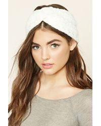 Forever 21 | White Twisted Knit Headwrap | Lyst