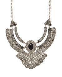 Forever 21 | Metallic Republique Francaise Necklace | Lyst