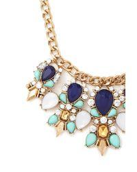 Forever 21 | Blue Faux Gem Statement Necklace | Lyst