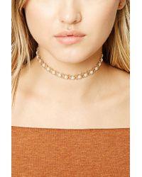 Forever 21 - Natural Faux Pearl Choker - Lyst