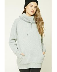 Forever 21 | Gray Cowl Neck Sweatshirt | Lyst
